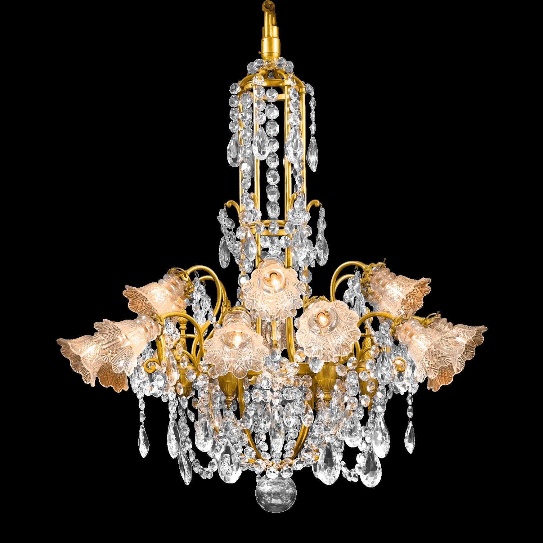 Antique baccarat crystal chandelier dore bronze circa 1880 my antique baccarat crystal chandelier dore bronze circa 1880 aloadofball Choice Image