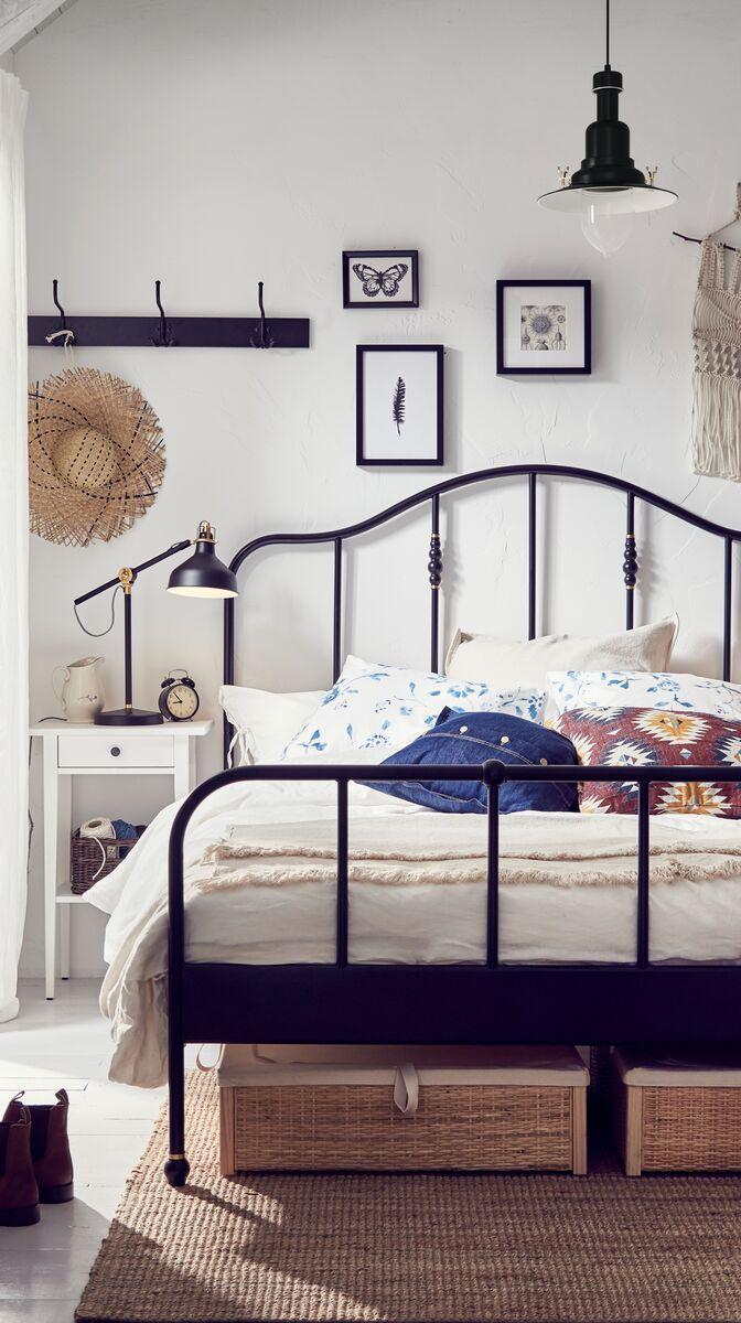 SAGSTUA Bed frame black, Leirsund IKEA Switzerland in
