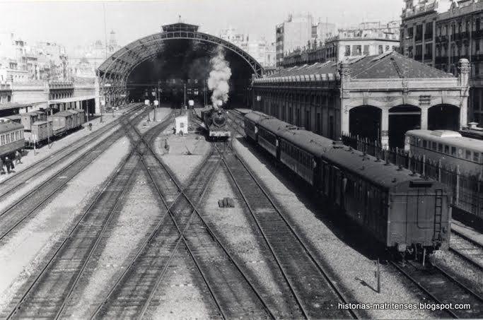 Estación del Norte de la calle Játiva en los años sesenta del siglo XX