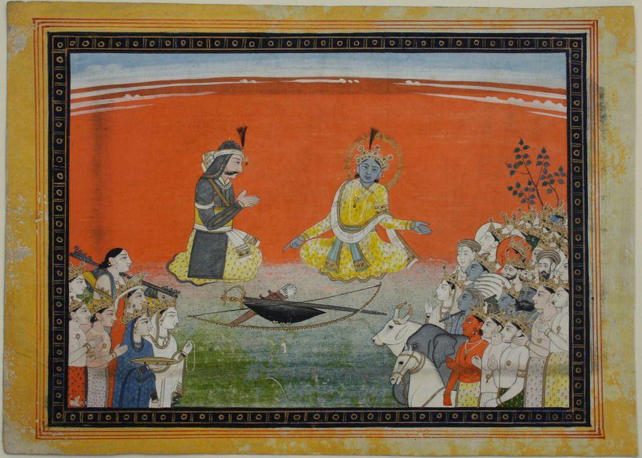 Counseling of Arjuna by Krishna