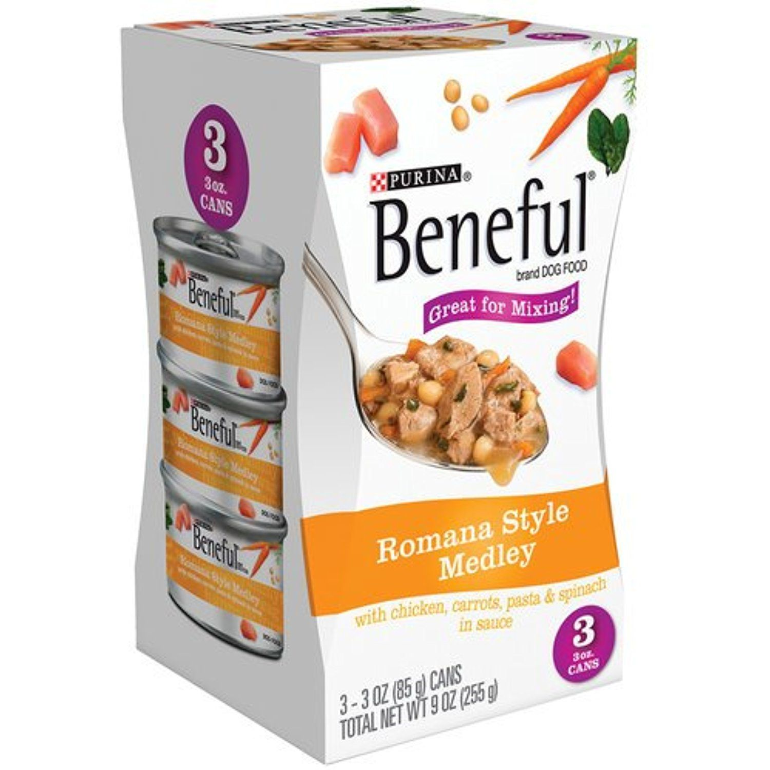 Beneful roman style medley canned dog food 9 oz pack of