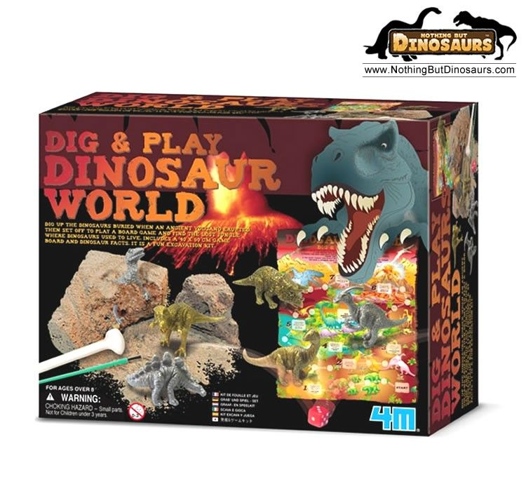 4m dig and play dinosaur world excavation kit and game nothing but