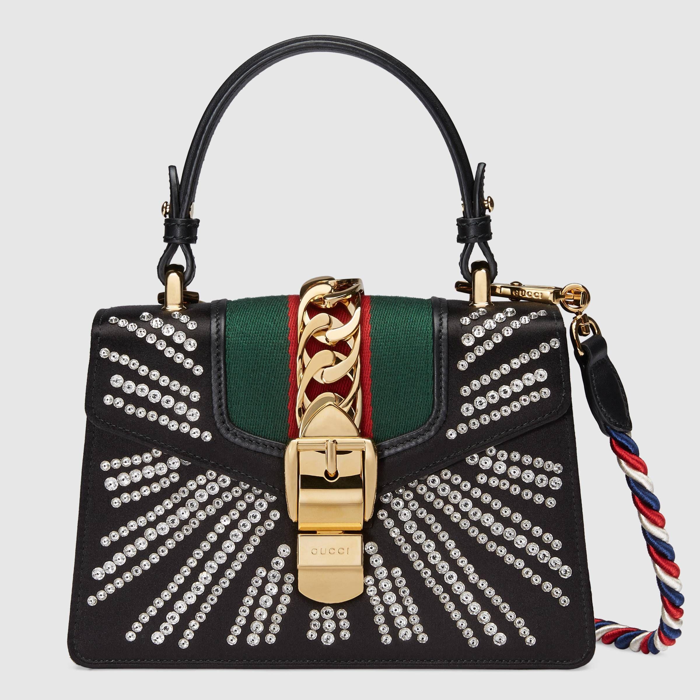 Embroidered Bling Crystal leather Shoulder Bag Cross Body Bag Gift Ideas for her
