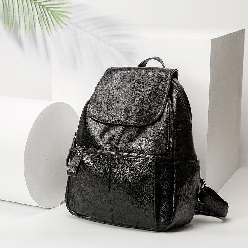 Luyo Fashion Genuine Leather Travel Girls Backpack Youth Women Mochilas  Feminina School Bags For Teenagers Sac 142c221401a42
