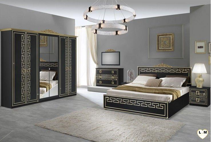 Tiffany Laque Noir Et Dore Ensemble Chambre A Coucher Neo Baroque En 2020 Ensemble Chambre A Coucher Chambre A Coucher Italienne Chambre A Coucher