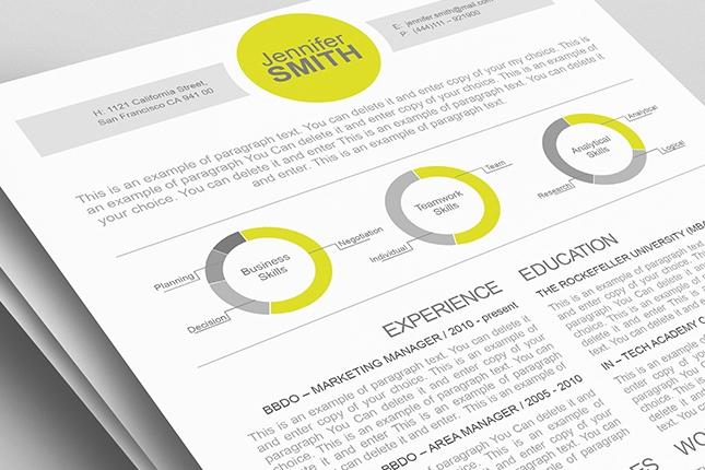 Creative resume templates 10 DesignSavvy Sites That Will