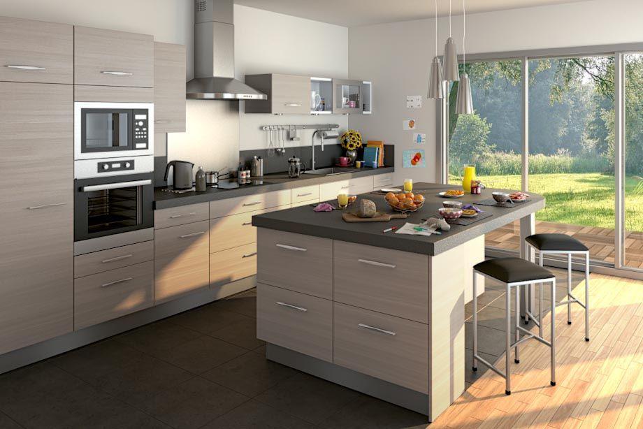 Cuisine Lapeyre écorce Cendre Cuisine Pinterest Cuisine - Lapeyre meuble haut cuisine pour idees de deco de cuisine