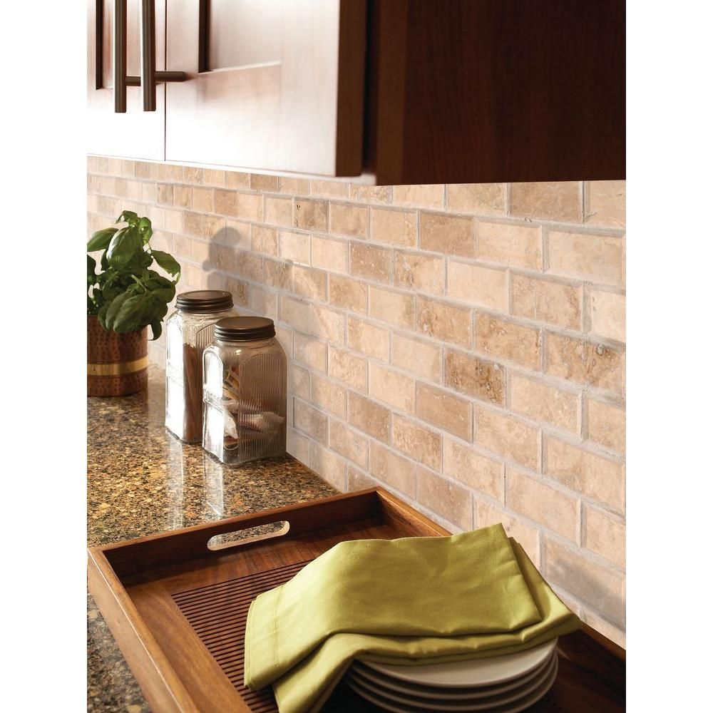 MSI Ivory 3 in. x 6 in. Honed Travertine Floor and Wall Tile (1 sq ...