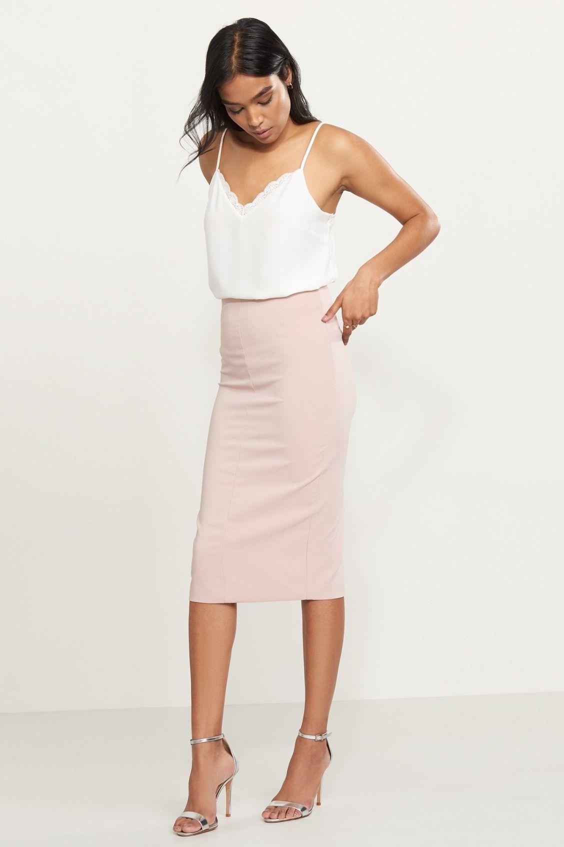 2f15815e6a8d Body language. Bodycon Midi Skirt | outfits in 2019 | Bodycon midi ...