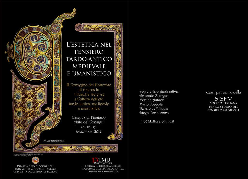 L'estetica nel pensiero tardo-antico, medievale e umanistico