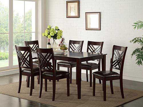 Rent Standard 7 Piece Dining Set Dining Room Sets Rectangular Dining Set