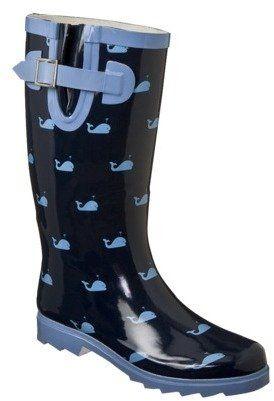 Merona Women's Zenia Whales Rain Boots