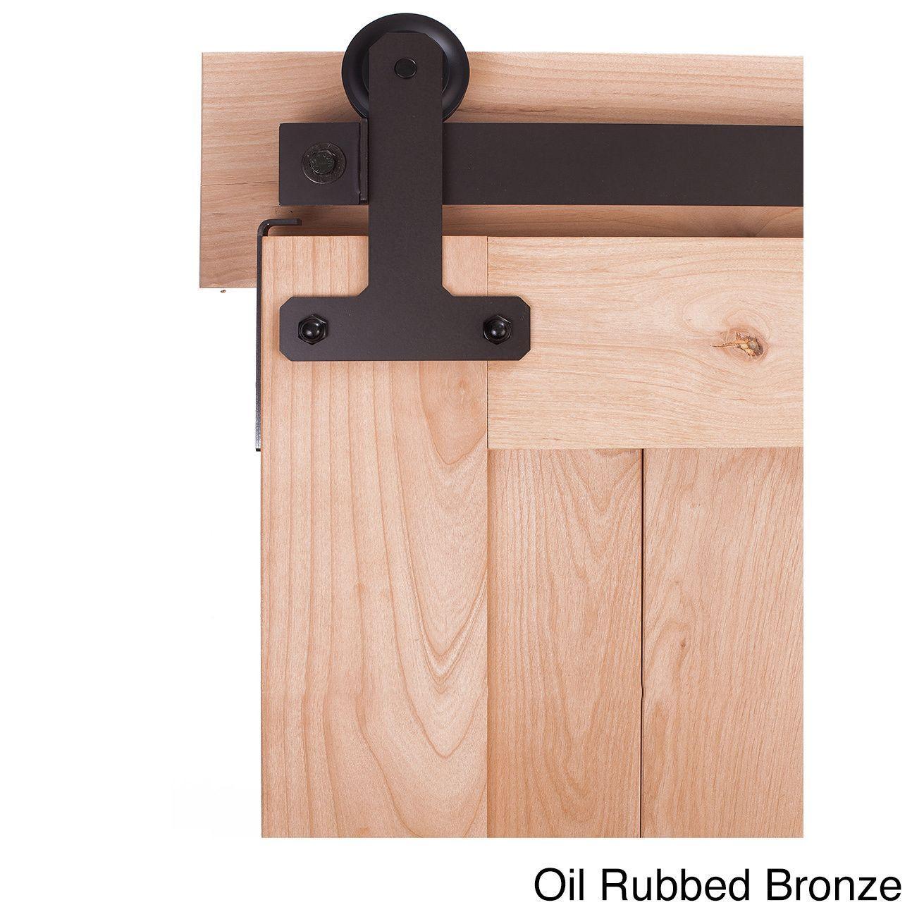 Ironwood Black/Bronze/Silver Metal Cellar-style Barn Door Hardware System (6-Foot