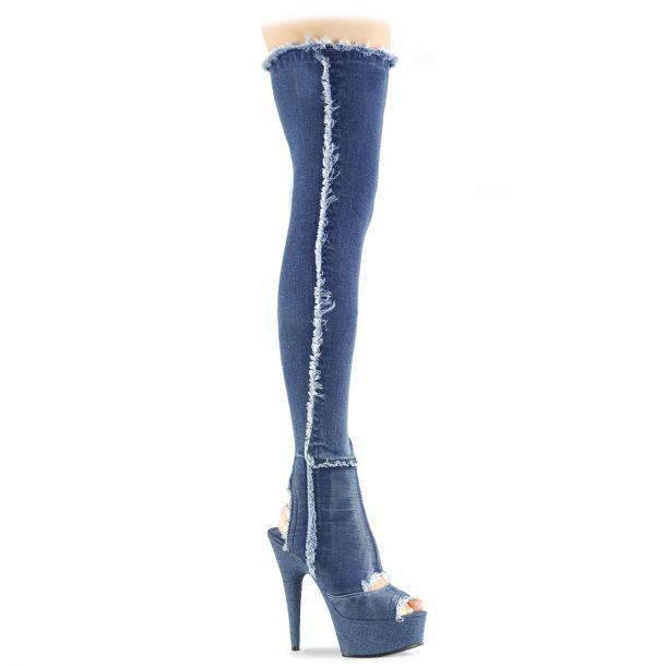 Overknee Jeans Stiefel DELIGHT 3007