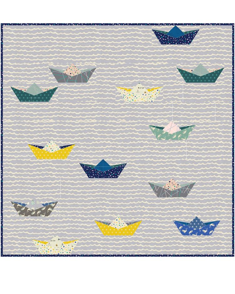 Paper Boat Quilt free pattern from Cotton + Steel | Textillia.com ...