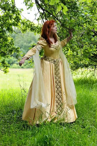 Field Of Gold Meval Inpired Wedding Gown
