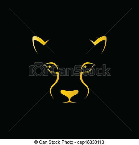 vector vector image of an cheetah face stock illustration royalty free illustrations stock clip art ico panther images cheetah face royalty free pictures vector image of an cheetah face
