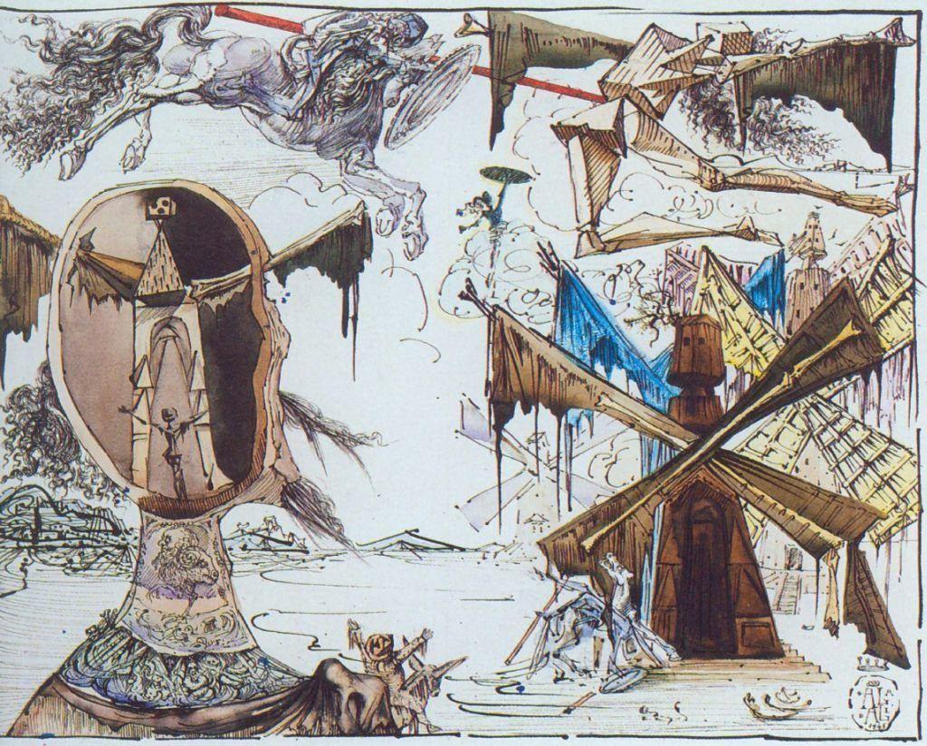 Σαλβαντόρ Νταλί - τα σκίτσα του Δον Κιχώτη