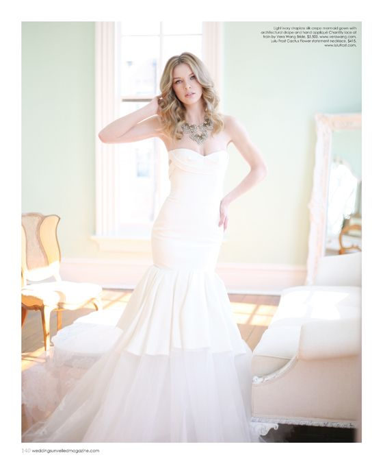 Vintage Wedding Dresses Raleigh Nc: Wedding Dress By Vera Wang, Necklace By Lulu Frost