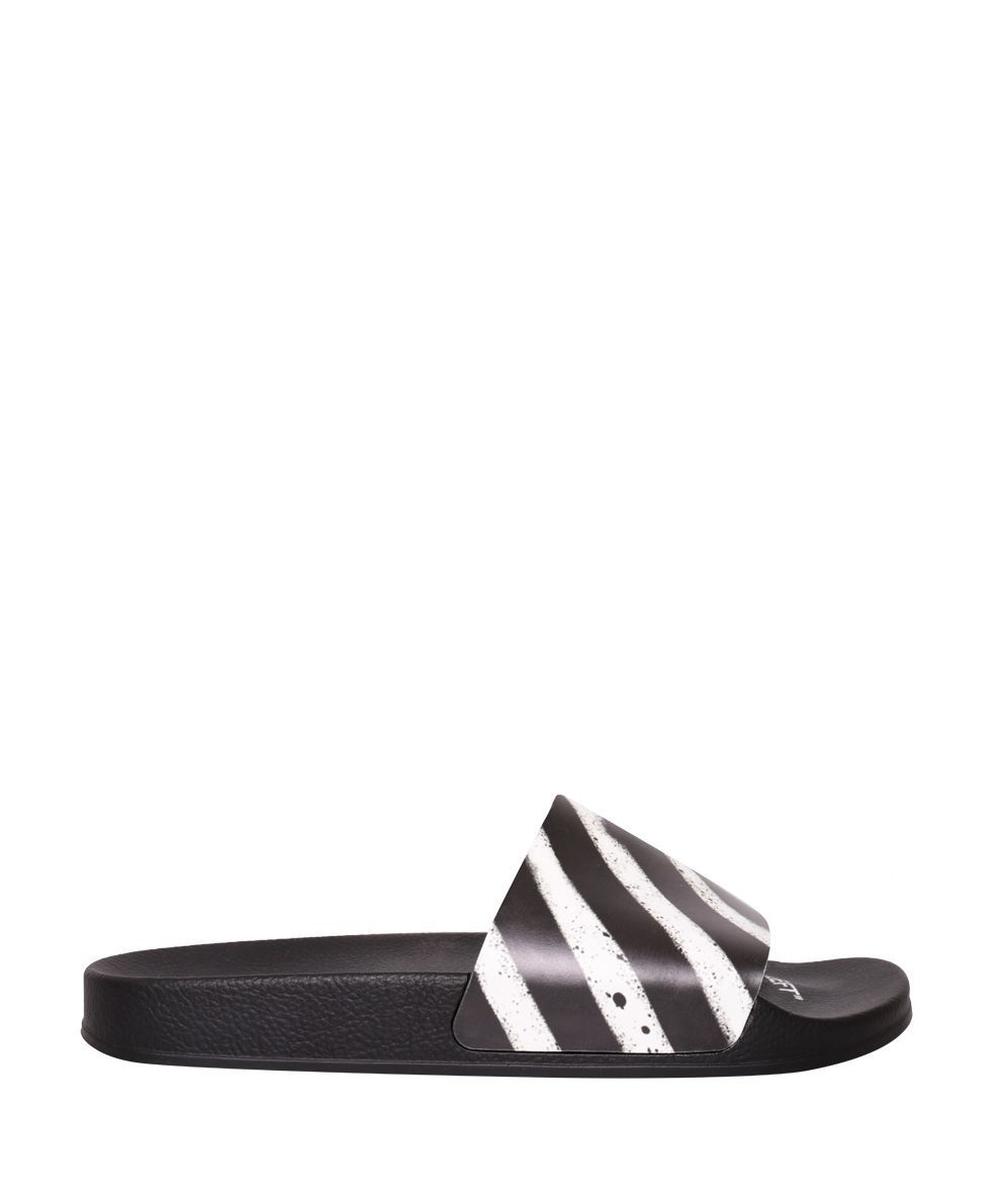 2018 Cheap Sneakers OFF WHITE CO Virgil Abloh Sandals Neutral Black White  Spray Slippers For Sale  off-white shoes cheap sale f896a 2b0bf ... 15497fb5b