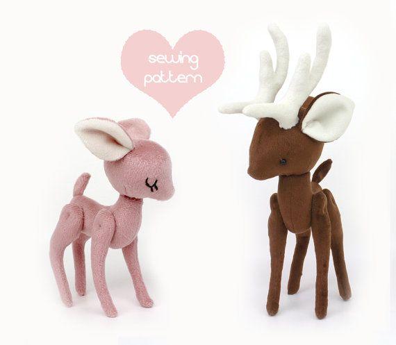 Plush Sewing Pattern Pdf Deer Reindeer Pony Stuffed Animal 2