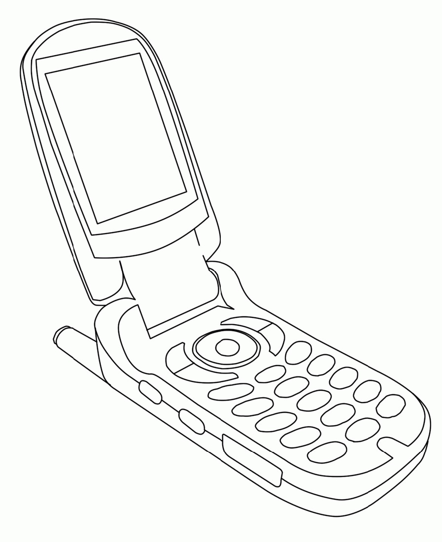 Flip Cell Phone Coloring Page K5 Worksheets Cell Phone Antenna Flip Cell Phones Cellular Phone
