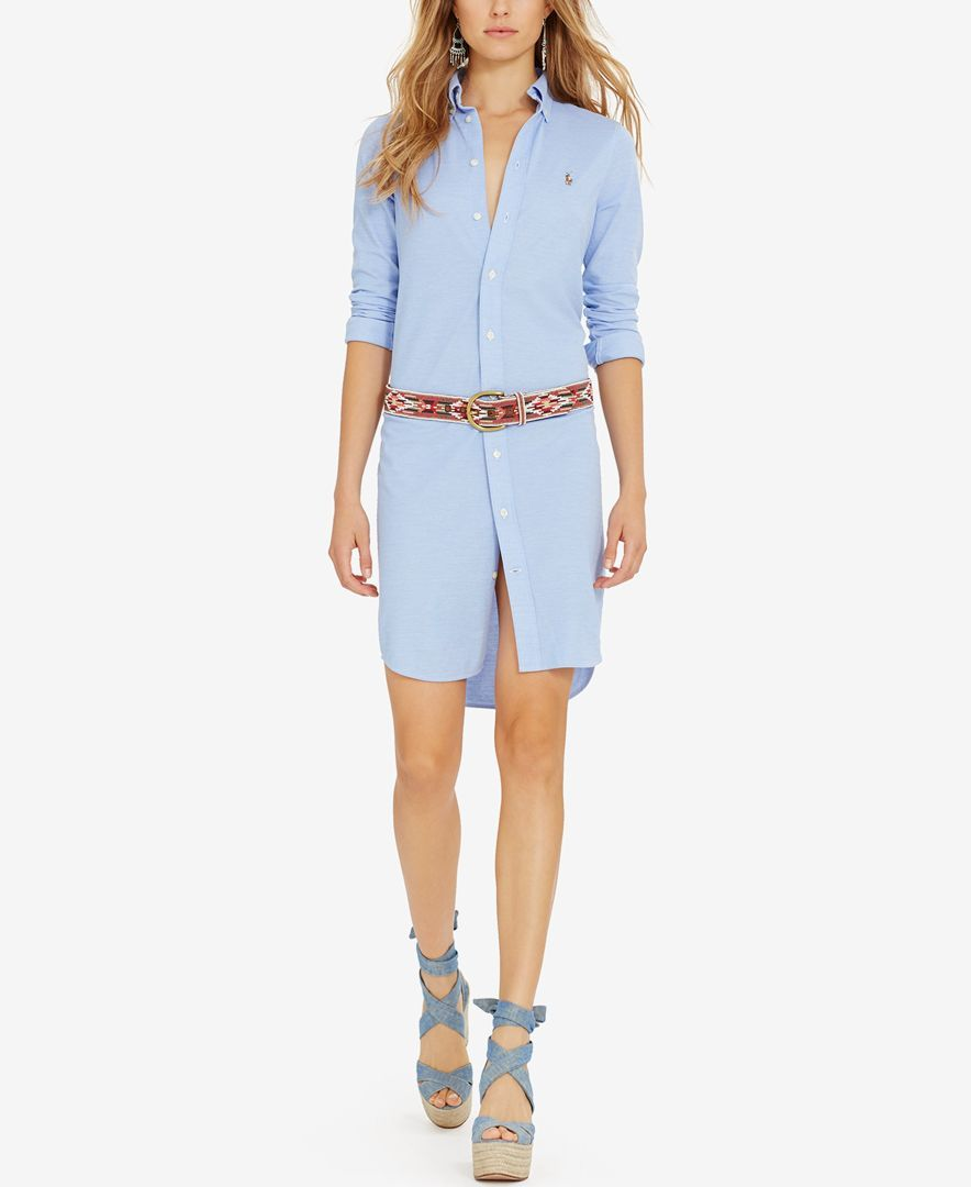 5bef94e6 Polo Ralph Lauren Knit Oxford Shirtdress | Products | Polo ralph ...