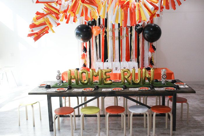 San Francisco Giants Baseball Birthday Party On Karas Ideas