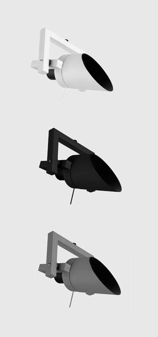 Diapason Small Surface Mounted Luminaire For Ceiling And Wall By