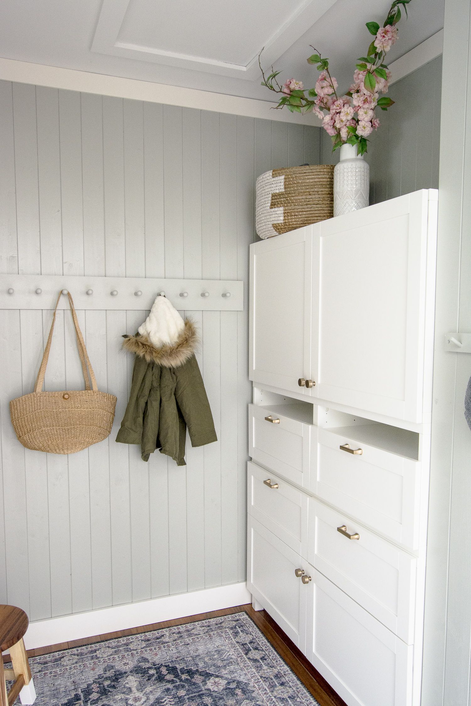 Mudroom Built-In Ikea Hack that Saved 2,000 Dollars in 2020 (With