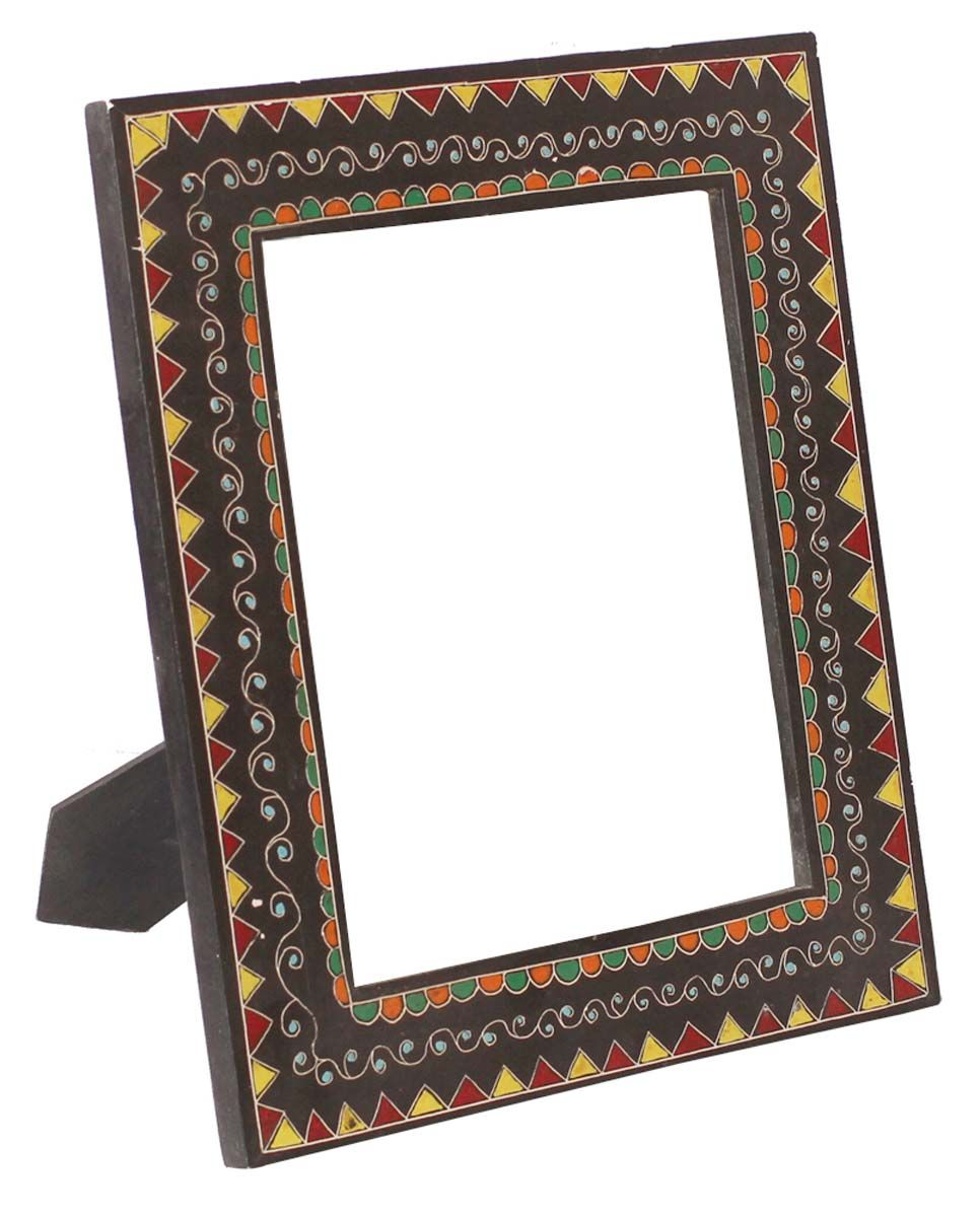 Bulk Wholesale Hand-Carved 7 5x9 5 Wooden Black PhotoFrame