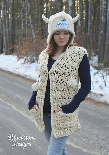 Chunky Lace Vest Pattern By Sonya Blackstone Pinterest Lace Vest