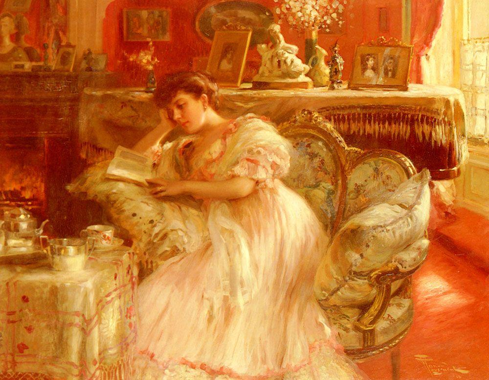 Quiet Afternoon. Fernand Toussaint (Belgian, 1873-1955). Oil on canvas.