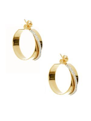 Lana Jewelry Vanity Expose Diamond Stud Earrings, 14k Yellow Gold