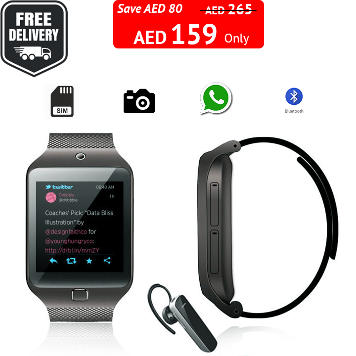 40 Discount Watch Mobile With Free Bluetooth Headphone Phone Call Funtion Camera Whatsapp Sim Ca Mobile Watch Discount Watches Bluetooth Headphones