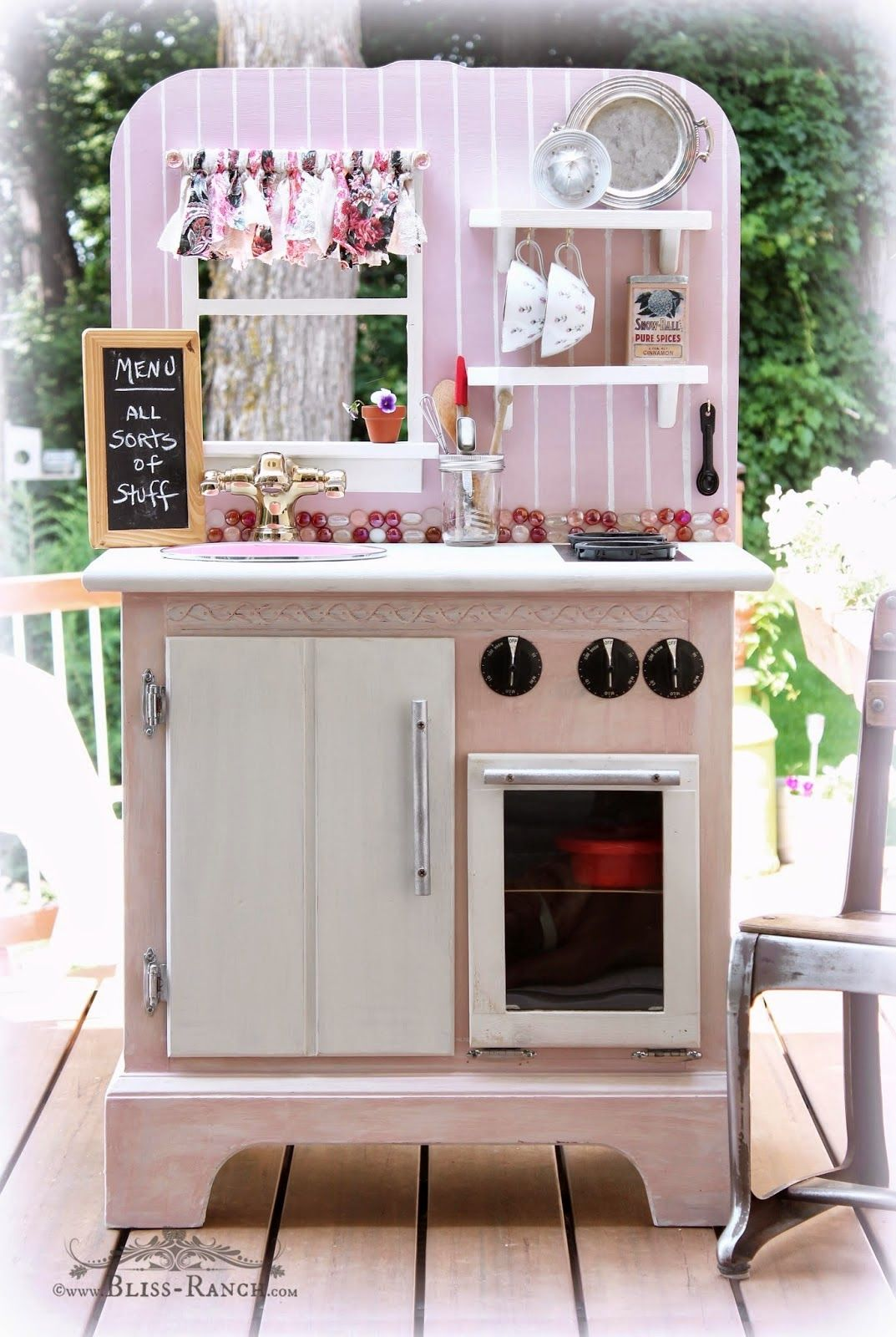 Recycled Nightstand Play Kitchen Bliss would be cute