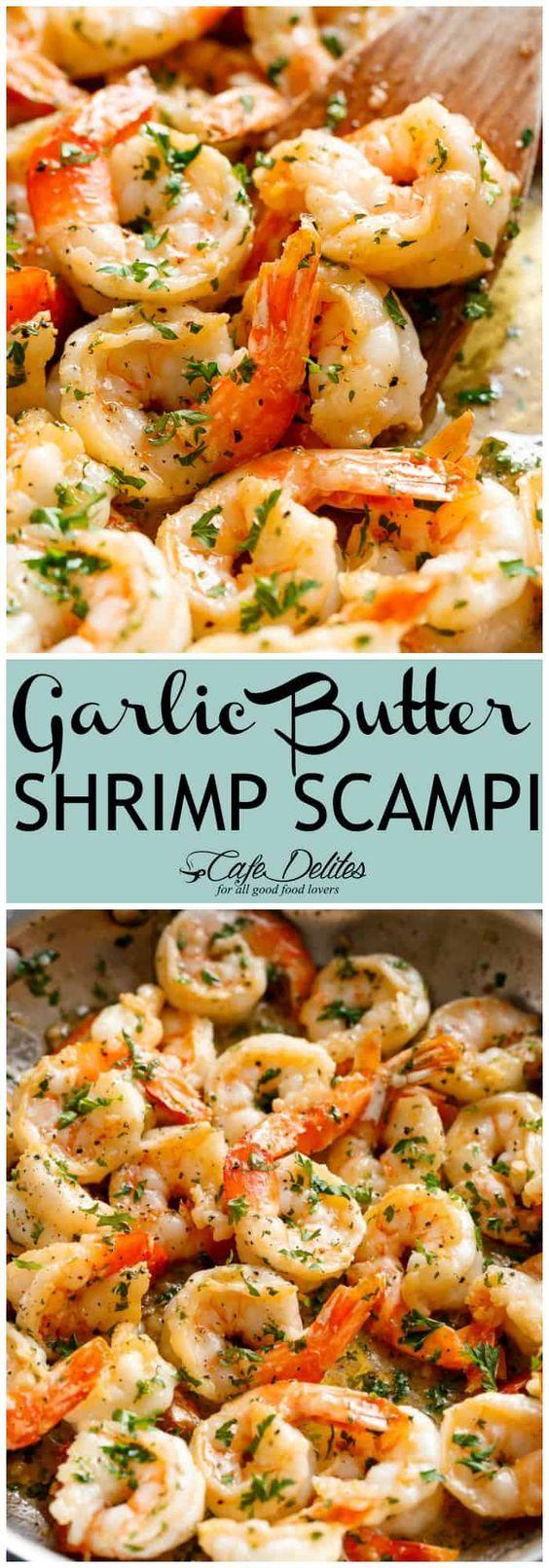 Garlic Butter Shrimp Scampi - Cafe Delites #shrimpscampi