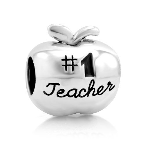 925 Sterling Silver 1 Teacher Apple Bead Charm Fits Pandora Bracelet *** Find out more about the great product at the image link.(This is an Amazon affiliate link and I receive a commission for the sales)