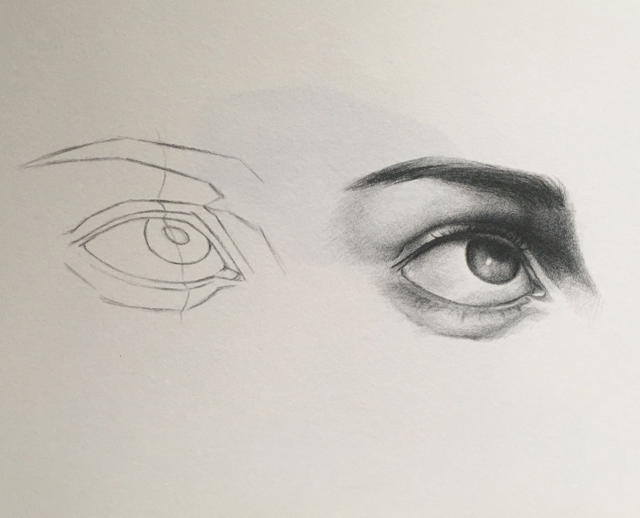 Eye Study Drawing Done After Drawing The Human Face By