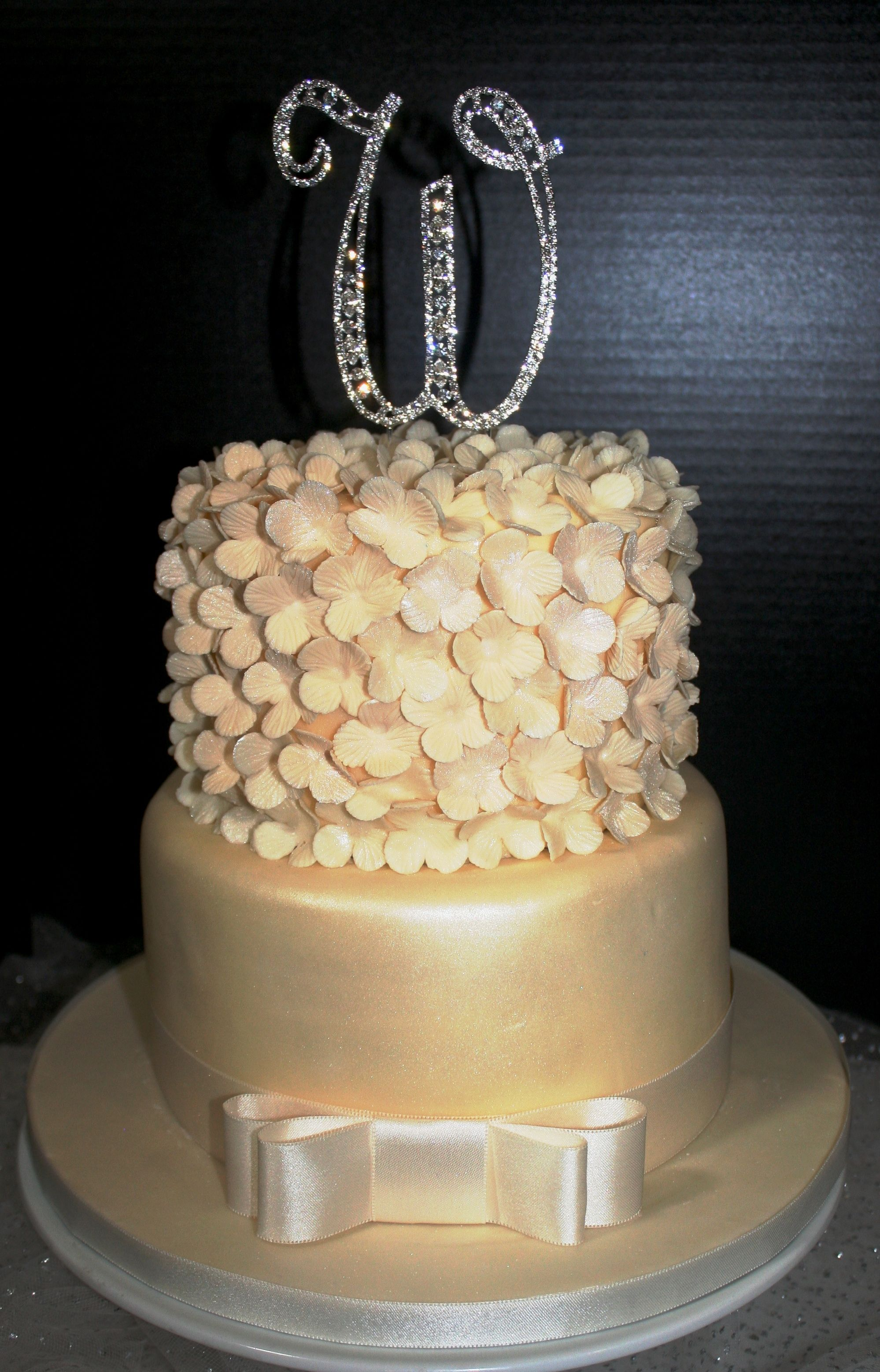 A small wedding cake can make as big a statement as one serving a ...
