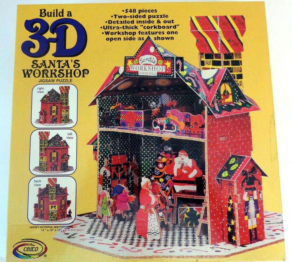 Ceaco Build a 3-D Santas Workshop Puzzle