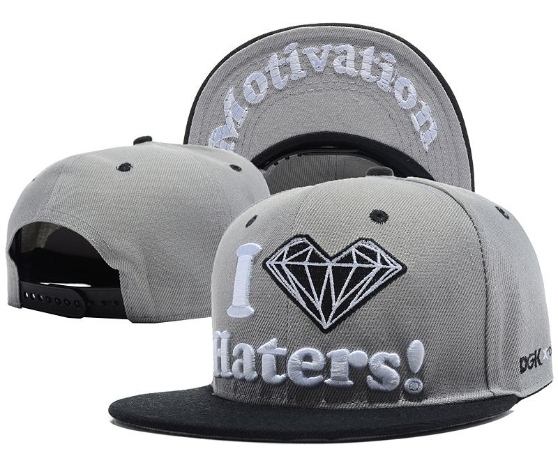 70f627d0e5a5e DGK HATERS Snap Back Hats Gray