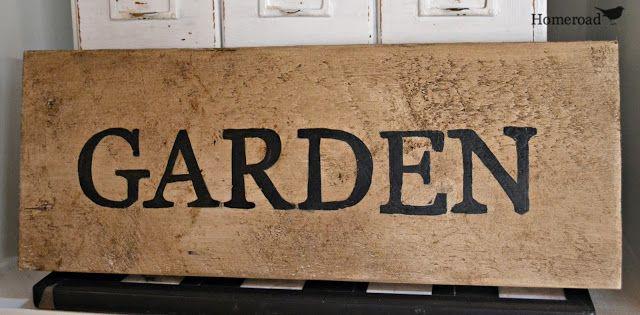 homeroad: Rustic Wooden Signs