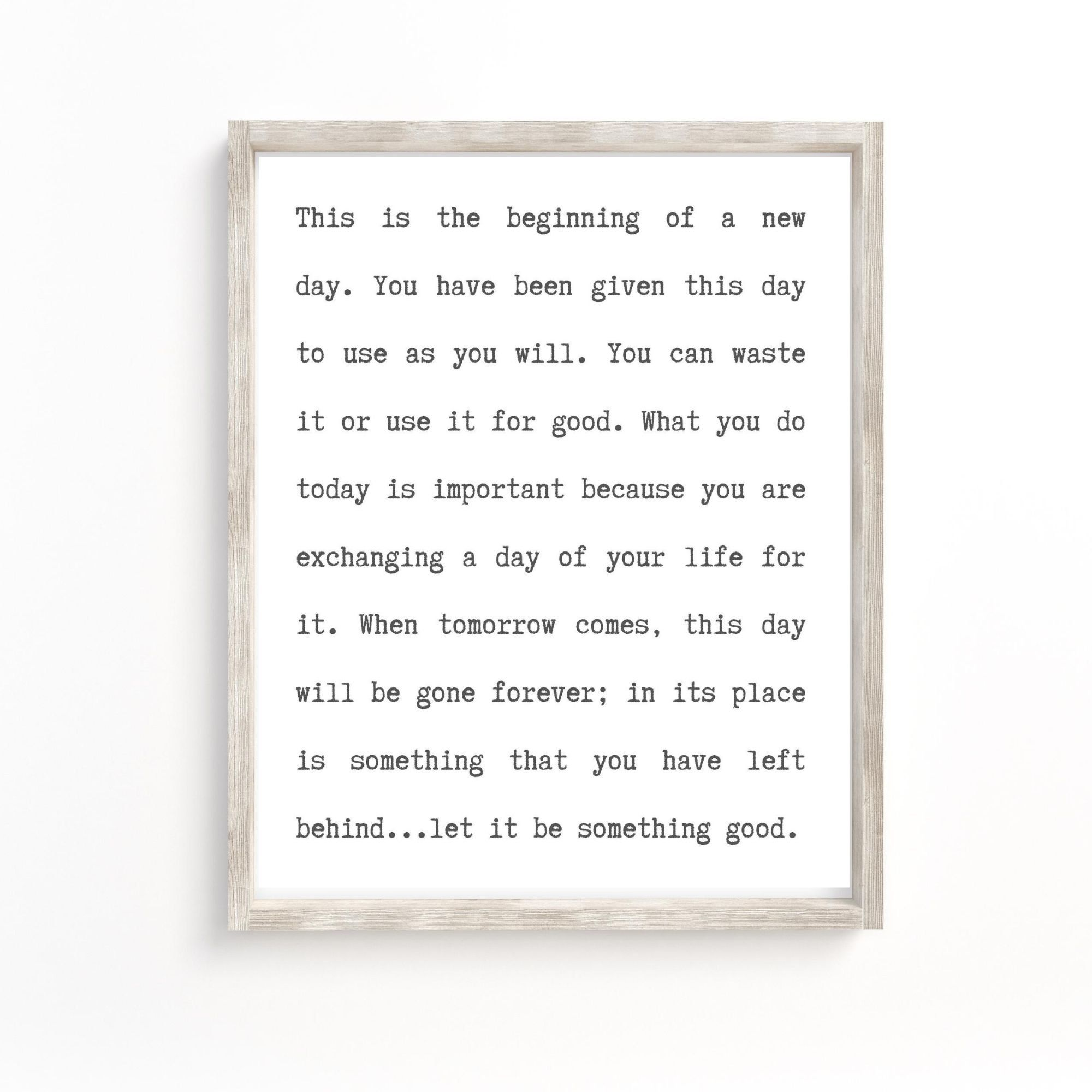 This Is The Beginning Of A New Day Inspirational Quote Etsy Online Printing Companies Affordable Wall Art A New Day
