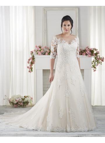 A-linie Modische Schöne Brautkleider aus Tüll mit Appplikation ...