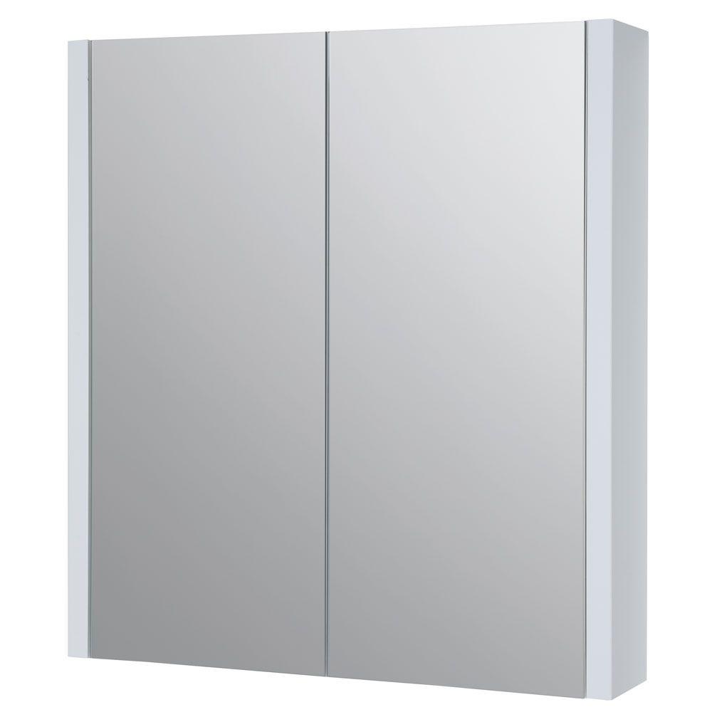 Prestige Elegance Mirrored Bathroom Cabinet 600mm Wide White Bathroom Mirror Cabinet White Bathroom Cabinets White Bathroom