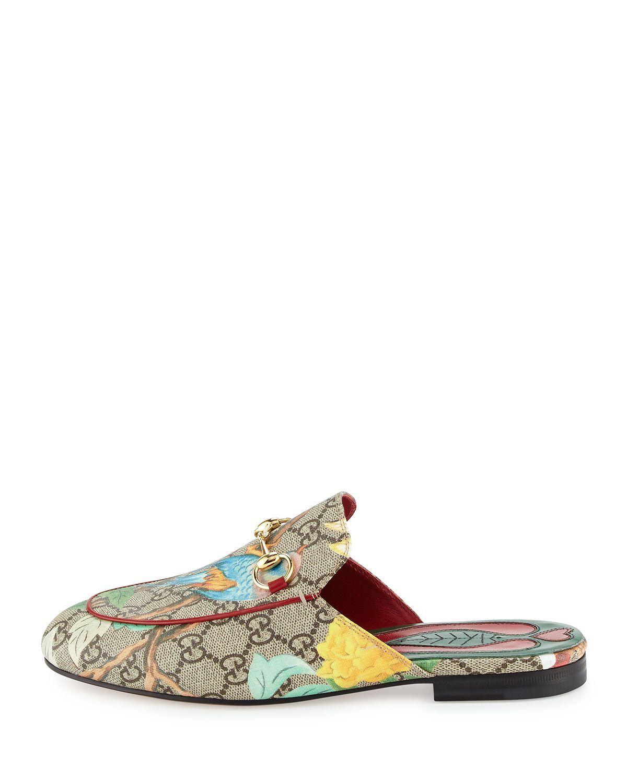 8fe53c37704 Gucci Princetown GG Canvas Horsebit Mule Slipper Flat