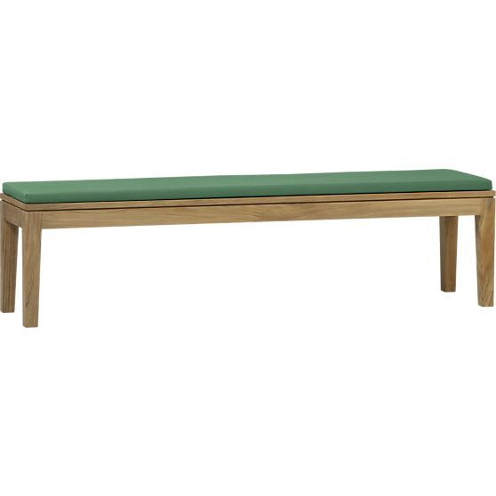 Superb Regatta Dining Bench With Sunbrella White Sand Cushion In Ncnpc Chair Design For Home Ncnpcorg