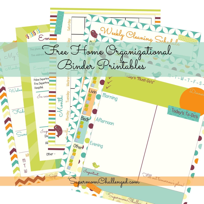 Bright Colors Home Organization Binder Printables