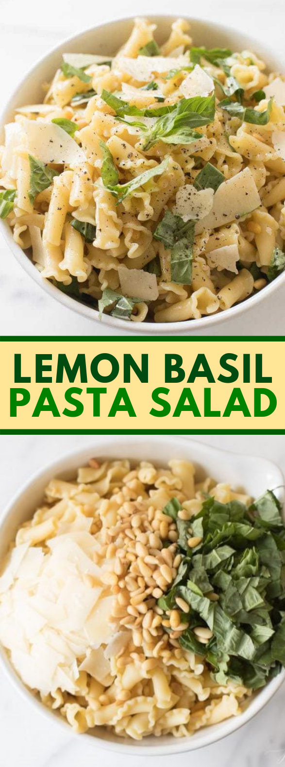 Photo of Basil Lemon Pasta Salad #dinner #lunch